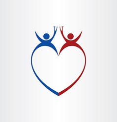 couple wedding love cheers celebration symbol vector image vector image