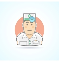Doctor physician icon vector image