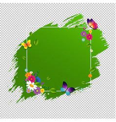 spring banner with flower isolated vector image vector image