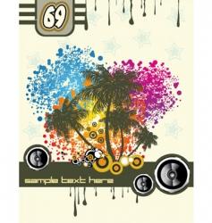 tropical music disco flyer vector image vector image