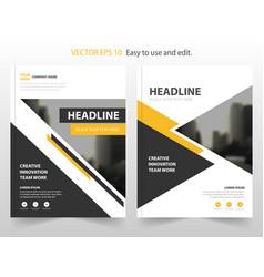 yello black abstract annual report brochure design vector image vector image