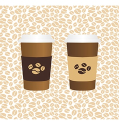 Coffee drinking glasses vintage concept vector image vector image