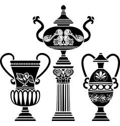 greek vases vector image