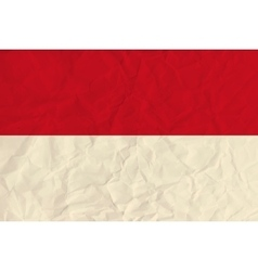 Indonesia paper flag vector image vector image