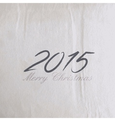 Merry Christmas 2015 creative poster design vector image vector image