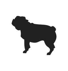 Pug Black Silhouette vector image vector image