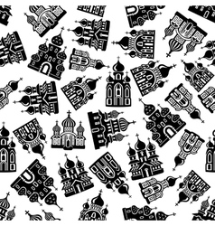 Seamless churches temples cathedrals pattern vector image vector image
