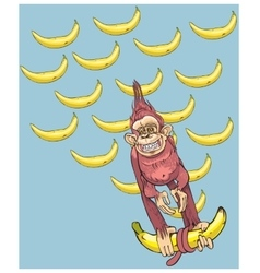 The symbol of year - a monkey with bananas vector image vector image