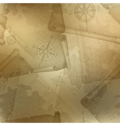 Brown seamless texture of old map vector image