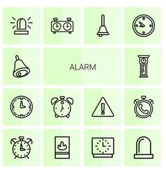14 alarm icons vector