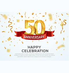 50 years anniversary banner template fifty vector