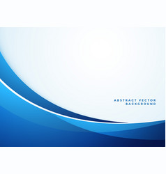 abstract blue wavy business style background vector image