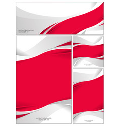 abstract red and white flag background vector image