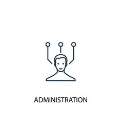 administration concept line icon simple element vector image