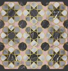 arabic taditional srats marble seamless vector image