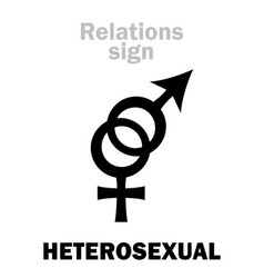 Astrology heterosexual straight vector