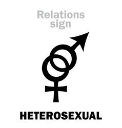 astrology heterosexual straight vector image