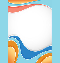 background design with waves in many colors vector image
