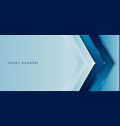 Banner web template blue angle arrow overlapping vector