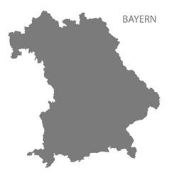 Bayern germany map grey vector