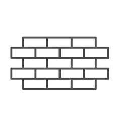Brick wall thin line icon bricks vector
