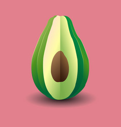 Bright avocado vector
