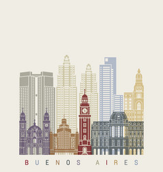 Buenos aires v2 skyline poster vector