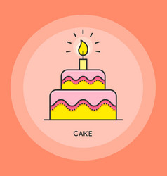 cake thin line vector image