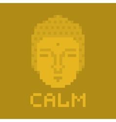 Calm pixel buddha vector