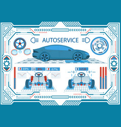 car service interface in a frame on a white vector image
