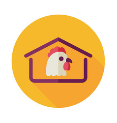 Chicken house icon vector