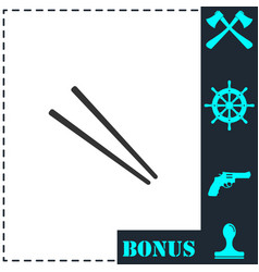 chopsticks icon flat vector image