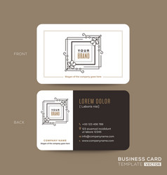 classic vintage business card namecard design vector image