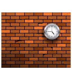 clock symbol on brick wall vector image