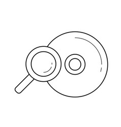 Compact disk line icon vector