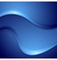Dark blue abstract wavy background vector