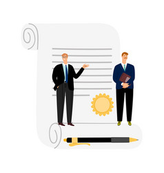 deal business contract vector image