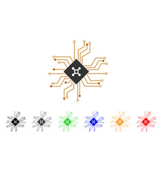 digital roulette circuit icon vector image