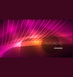 digital technology abstract background - neon vector image