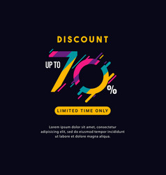 Discount up to 70 off limited time only label vector