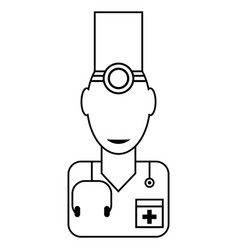 doctor medical line icon vector image