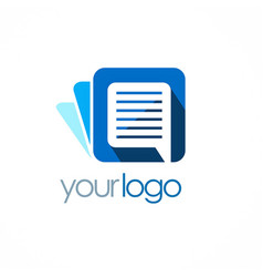 document logo vector image