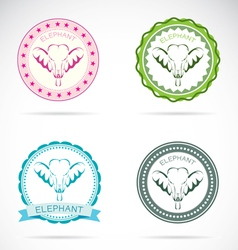 Elephant labels vector