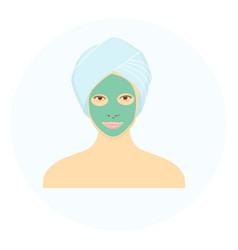 Facial mask vector