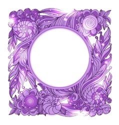 Fairy hand drawn doodle style pink mistery vector