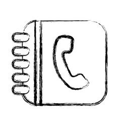 Figure square phone inside rings notebook vector
