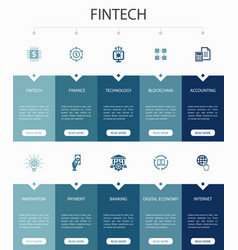 Fintech infographic 10 option ui designfinance vector