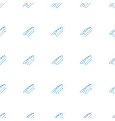 fishing rod icon pattern seamless white background vector image