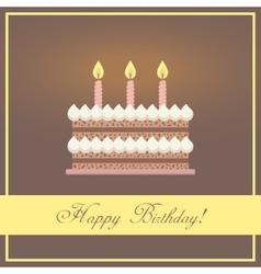 flat design happy birthday greeting card vector image
