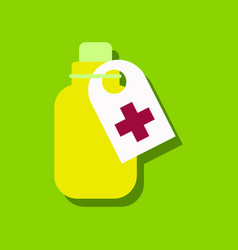 Flat icon design collection medicines bank vector